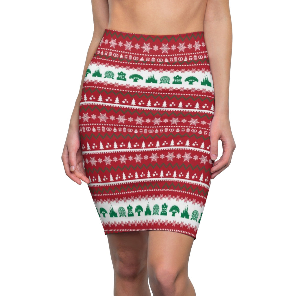 Parks Ugly Sweater Pencil Skirt