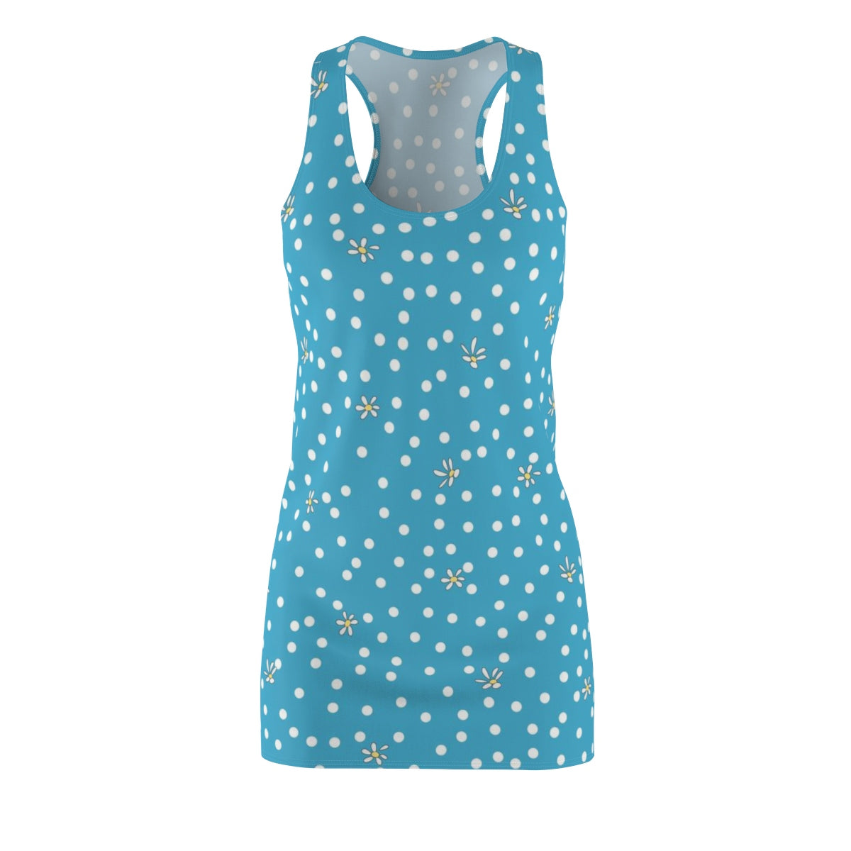 Blue Polka Dot Racerback Dress