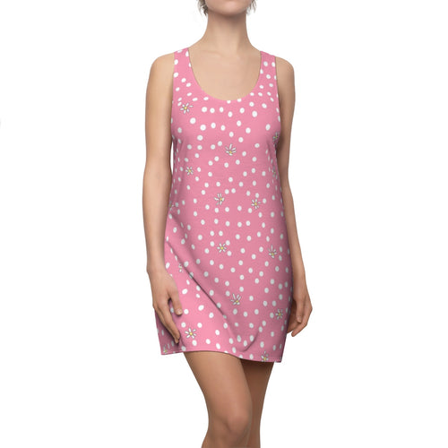 Pink Polk Dot Racerback Dress