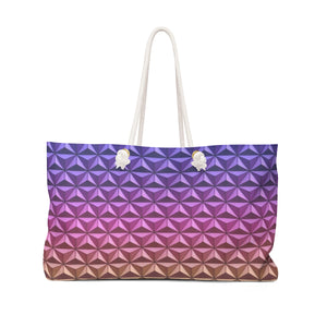 Geodesic Sphere at night Weekender Bag