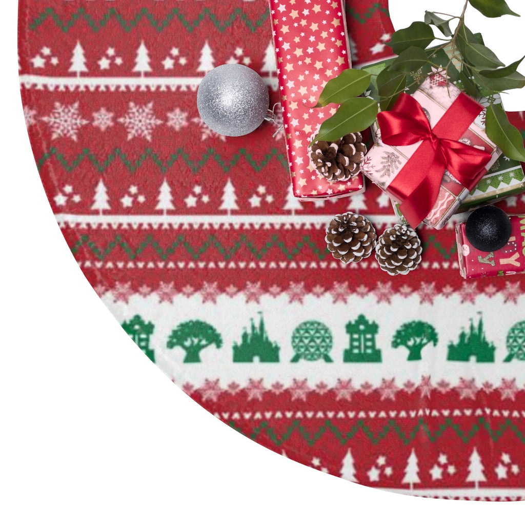 Parks Ugly Sweater Christmas Tree Skirt