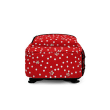 Load image into Gallery viewer, Red Polka Dot Backpack (Made in USA)