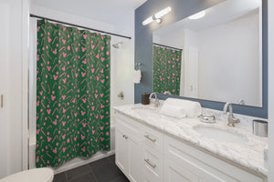 Green Candy Cane Shower Curtain