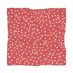 Red Polka Dot Poly Scarf