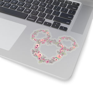 Pink Flower & Garden Ears Sticker
