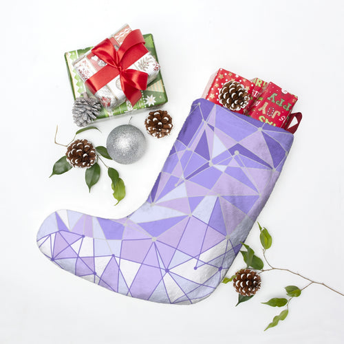 Purple Wall Christmas Stockings