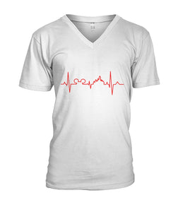 Heartbeat  Mens V-Neck