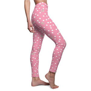 Pink Polka Dot Leggings