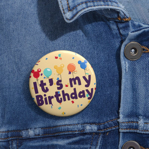 Birthday Pin Buttons