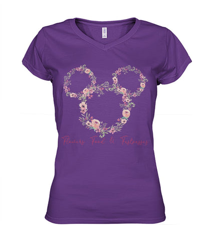 Flowers Food  & Fastpasses - Pink Women's V-Neck