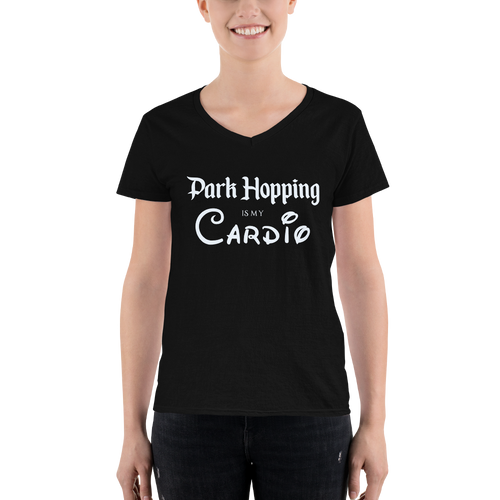 Park Hopping Cardio Women's V-Neck - Light