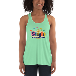 Single and Ready to Mingle Flowy Racerback Park Tank