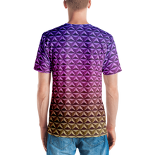 Load image into Gallery viewer, Men's  Geodesic Sphere at Night V-Neck Shirt