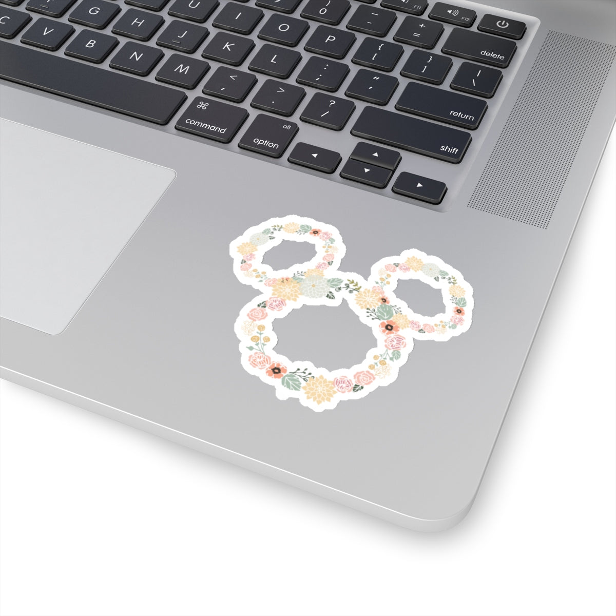 Peach Flower & Garden Ears Sticker