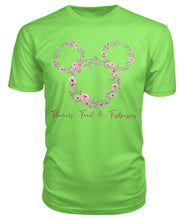 Load image into Gallery viewer, Flowers Food  & Fastpasses - Pink Premium Unisex Tee