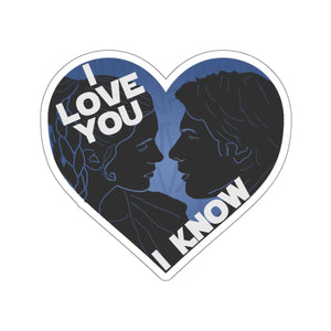 I Love You I Know Car Decal Sticker (blue)