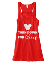 Load image into Gallery viewer, Turn Down for Walt Women's Flowy Tank