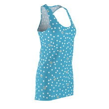 Load image into Gallery viewer, Blue Polka Dot Racerback Dress
