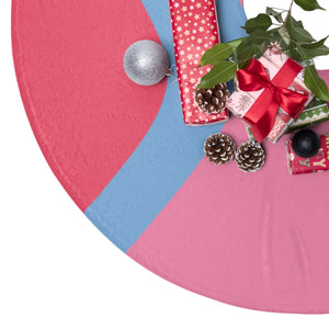 Bubble Gum Wall Christmas Tree Skirt
