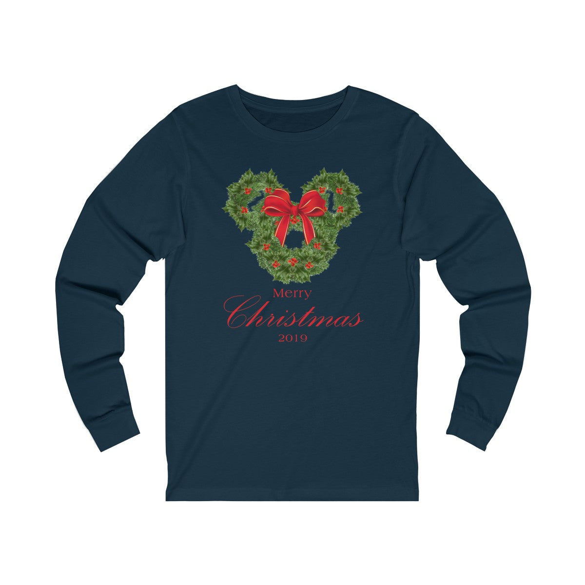 Merry Christmas Long Sleeve Tee - with Bow