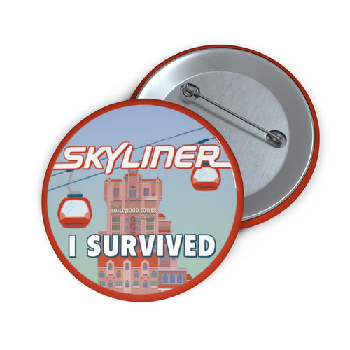 I Survived The Skyliner Pin Button
