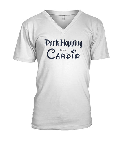 Park Hopping Cardio Men's V-Neck - Dark