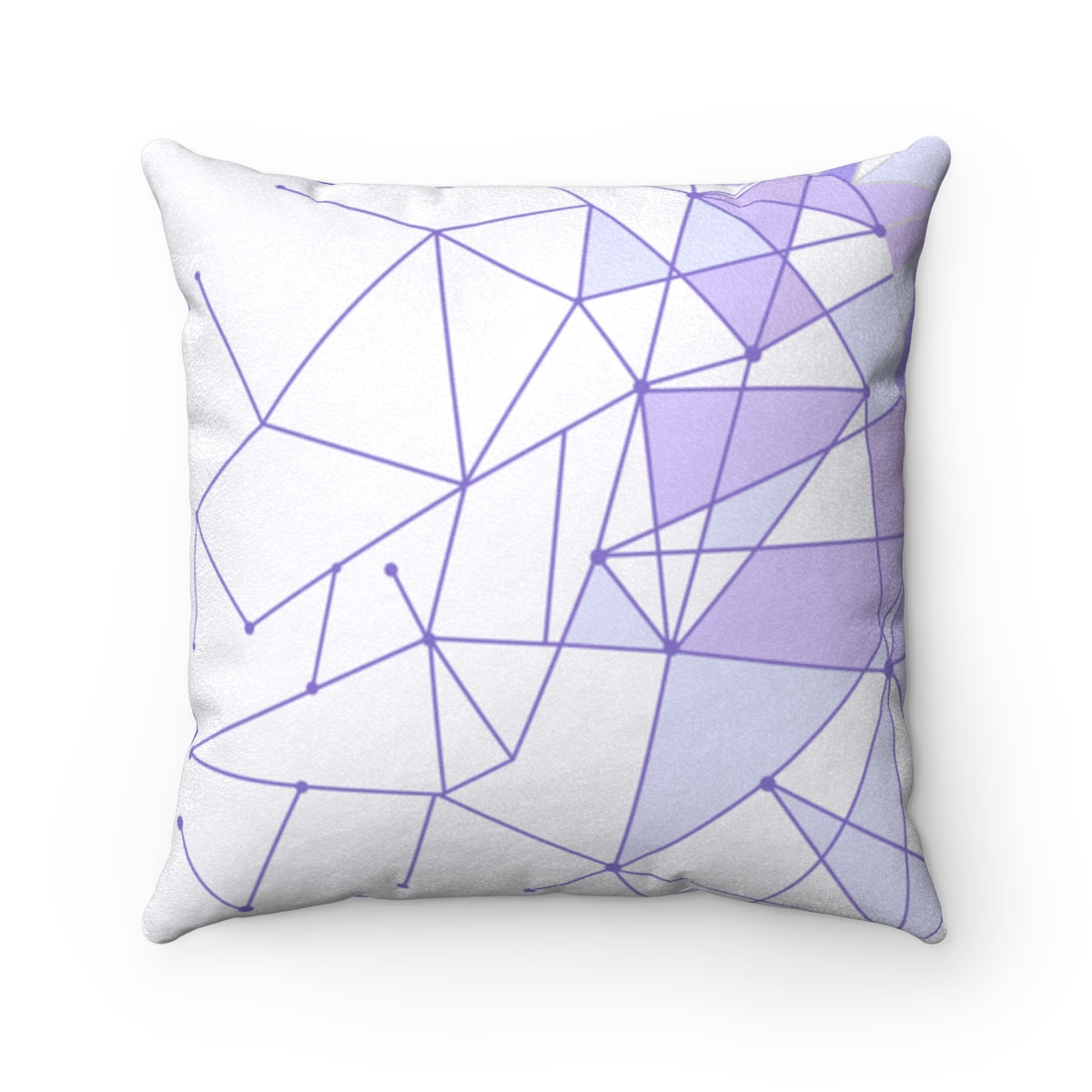 Purple Wall Faux Suede Square Pillow