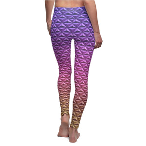 Geodesic Sphere at Night Leggings