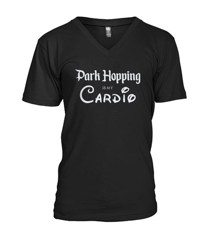 Park Hopping Cardio Men's V-Neck - Light