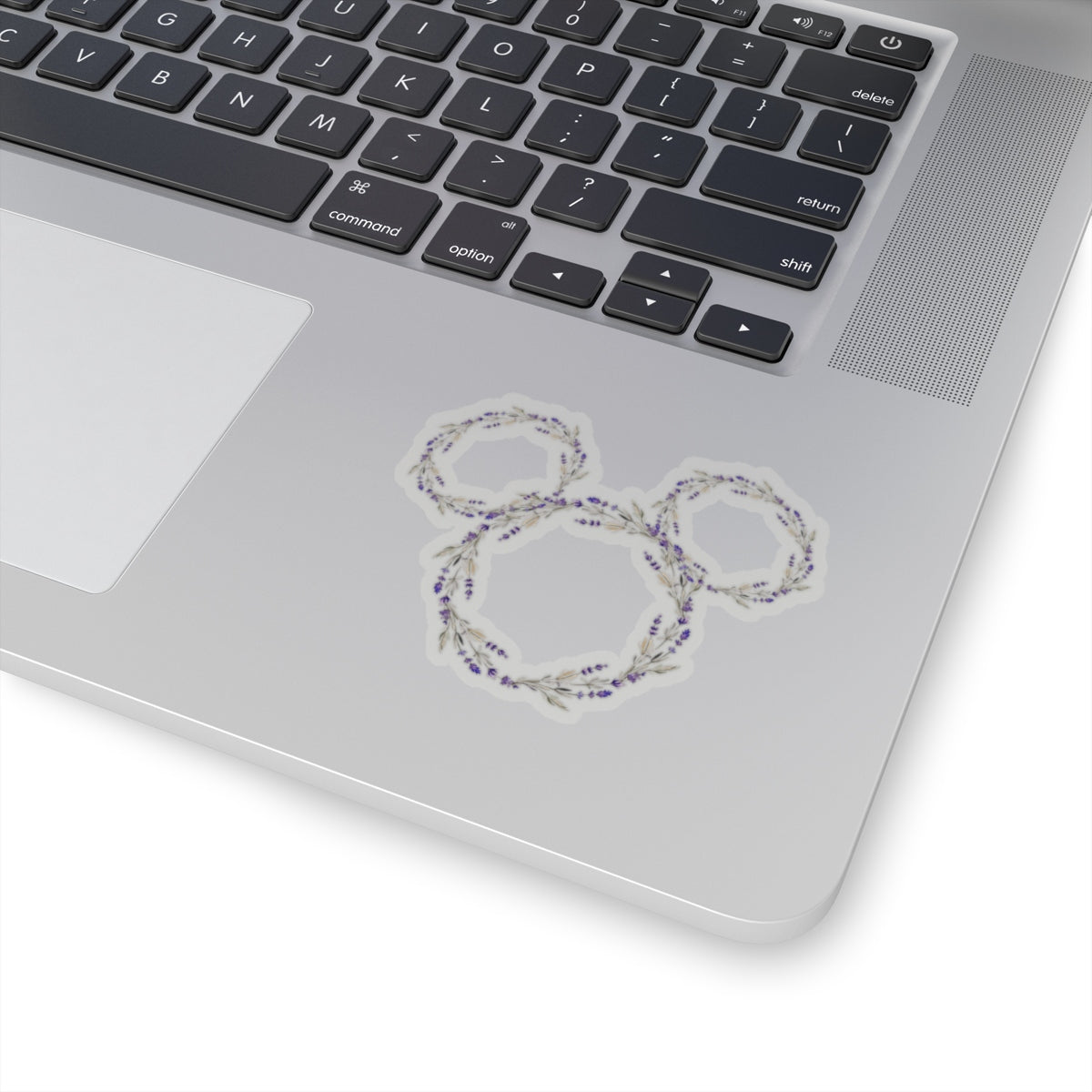 Lavender Flower & Garden Ears Sticker