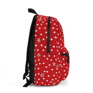 Red Polka Dot Backpack (Made in USA)