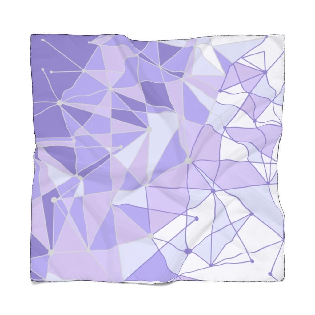 Purple Wall Poly Scarf