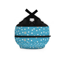 Load image into Gallery viewer, Blue Polka Dot Backpack (Made in USA)