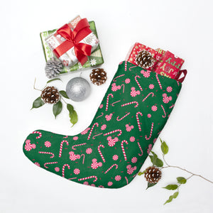 Green Candy Cane Christmas Stockings
