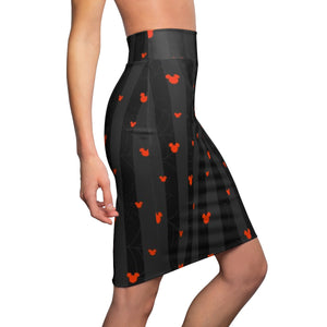 Webs and Ears Pencil Skirt