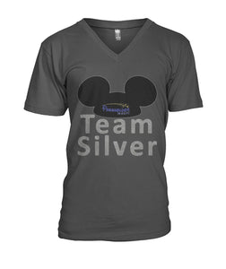 Team Silver Mens V-Neck