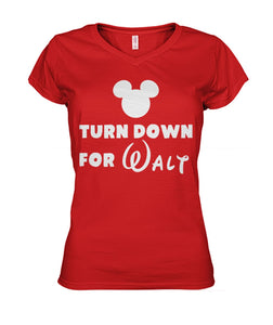 Turn Down for Walt Women's V-Neck