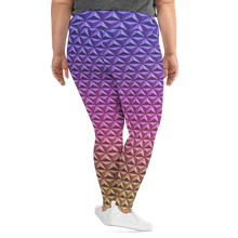 Load image into Gallery viewer, Geodesic Sphere at Night Plus Size Leggings