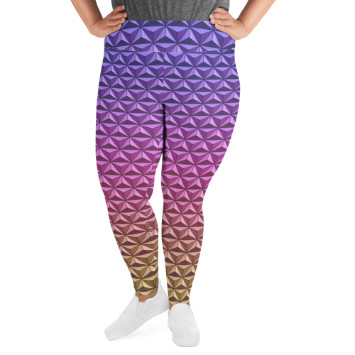 Geodesic Sphere at Night Plus Size Leggings