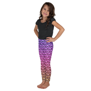 Geodesic Sphere at Night Girl's Leggings