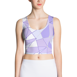 Purple Wall Crop Top