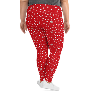 Red Polka Dot Plus Size Leggings