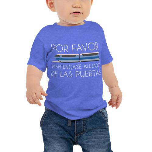 Please Stand Clear Baby Tee - Spanish
