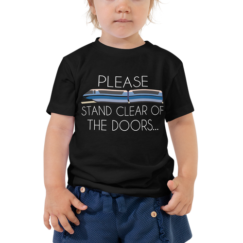Please Stand Clear Toddler Tee - English