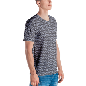 Men's Geodesic Sphere V-Neck Shirt