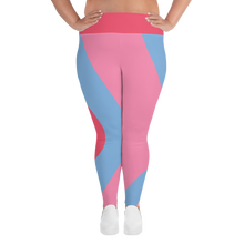 Load image into Gallery viewer, Bubble Gum Wall Plus Size Leggings