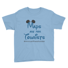 Load image into Gallery viewer, Maps are for Tourists Juniors T-Shirt
