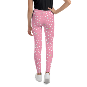 Pink Polka Dot Youth Leggings