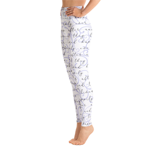 Happily Ever After Yoga Leggings - Lavender