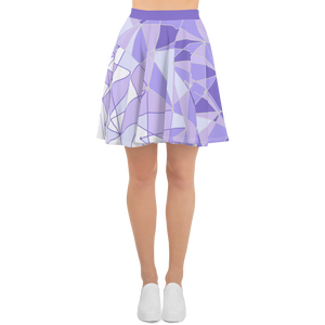Purple Wall Skater Skirt